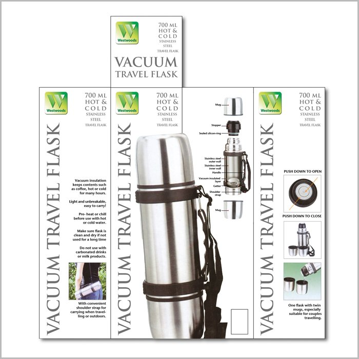 packaging design Acumen Vacuum Flask