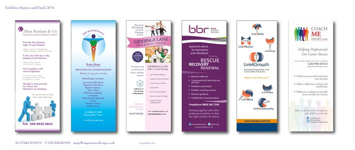 designs for pull-up roller banner