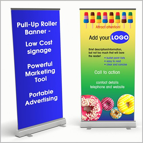 Design A Pull-up Roller Banner To Get You Noticed