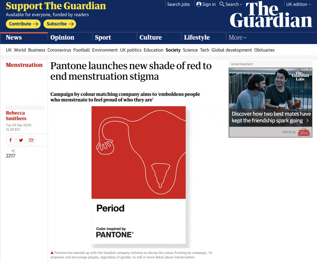 https://www.theguardian.com/society/2020/sep/29/pantone-launches-new-shade-of-red-to-end-menstruation-stigma