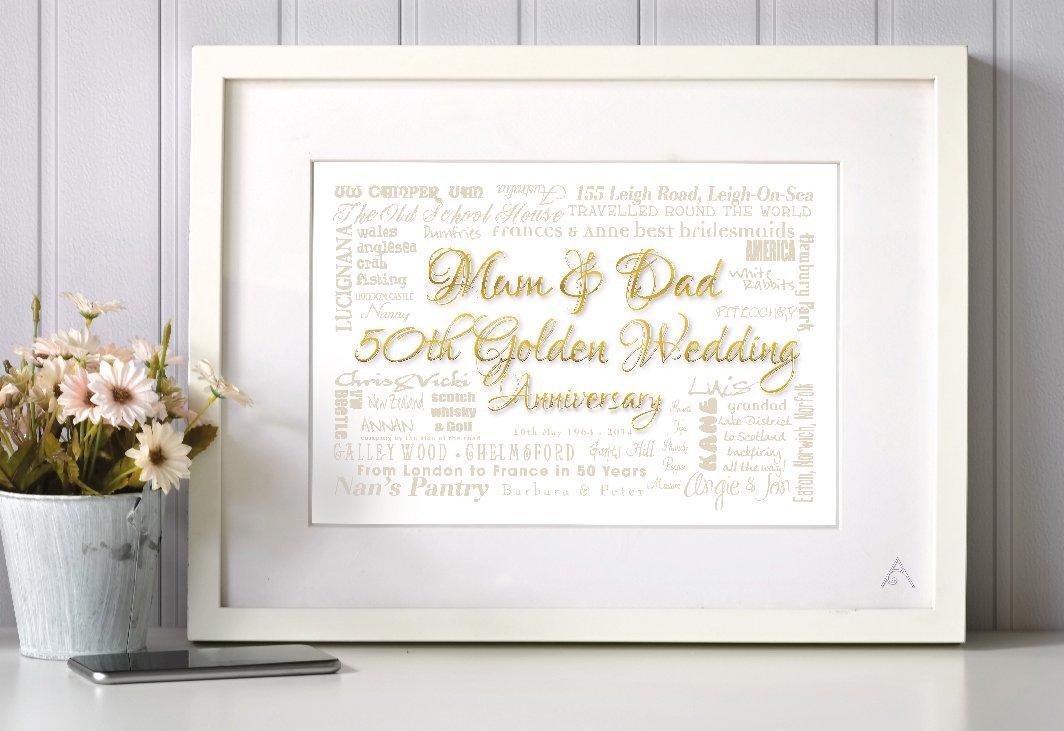 word art Golden Wedding