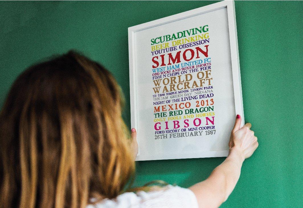 word art canvas simon