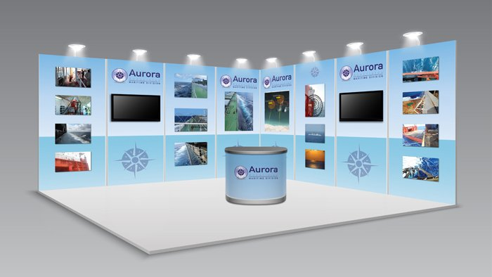 aurora exhibition stand