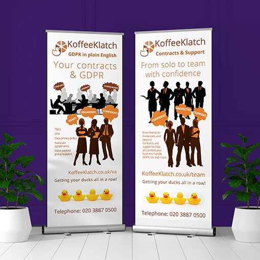 koffeeklatch pull up roller banners