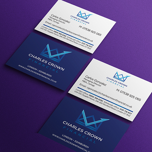 Charles Crown Financial business card